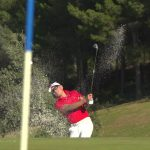Bunker Shot at Frégate Golf Club