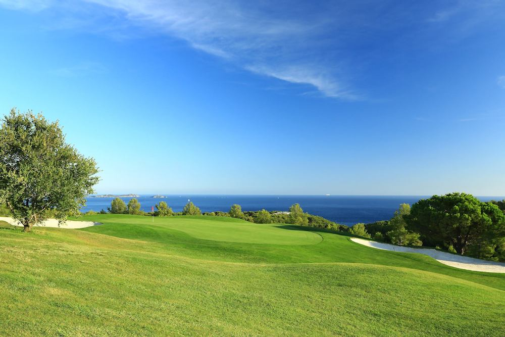 Frégate Golf Club Sea View From Green